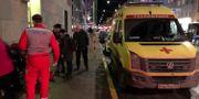 Måns Jonasson upptäckte att man låg på marken. Då dök den ryska ambulansen upp.  Måns Jonasson, privat.