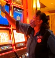 Jeorganna Barnes jobbar med att städa kasinot i Atlantic City. Wayne Parry / TT NYHETSBYRÅN