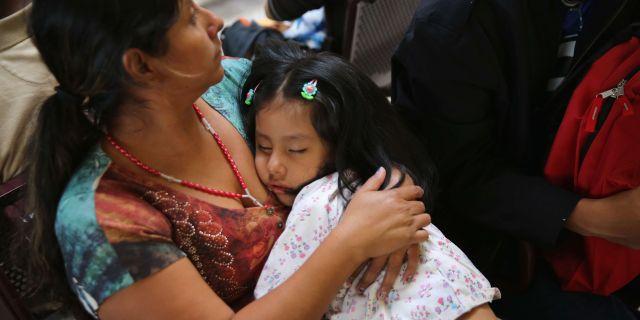 En familj från Guatemala som invandrat till Texas, USA, arkivbild. JOHN MOORE / GETTY IMAGES NORTH AMERICA