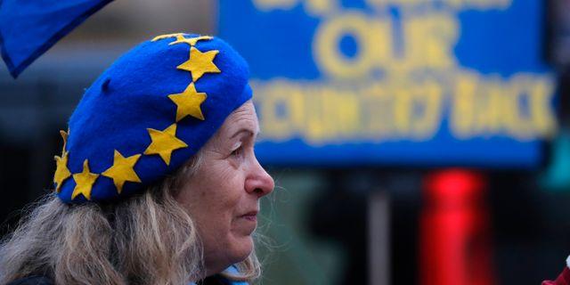 Demonstration för EU i Storbritannien. Frank Augstein / TT NYHETSBYRÅN
