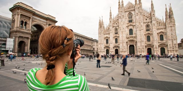 Duomo di Milano är en av världens mest kända katedraler.  Colourbox