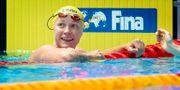 Sarah Sjöström tar silver på 50 meter frisim. Jessica Gow/TT / TT NYHETSBYRÅN