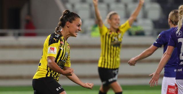 Johanna Rytting Kaneryd jublar efter 3-1 målet Adam Ihse/TT / TT NYHETSBYRÅN