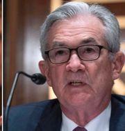 Fed-guvernören Lael Brainard och Fed-chefen Jerome Powell. TT