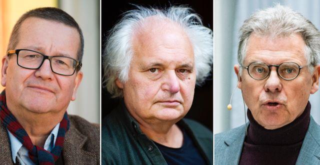 Stig-Björn Ljunggren, Göran Greider och Klas Eklund. TT.