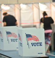 Röstningslokaler i New Hampshire under primärvalen. Kristopher Radder / TT NYHETSBYRÅN
