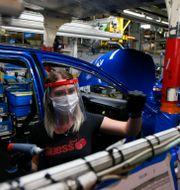 Bilfabrik i norra Frankrike. Michel Spingler / TT NYHETSBYRÅN