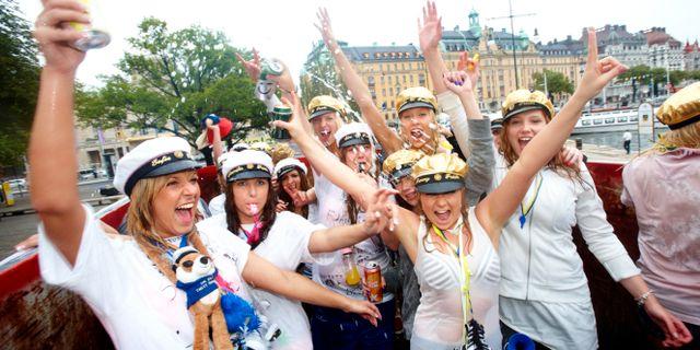 Arkivbild på studentfirande i Stockholm. FREDRIK PERSSON / TT / TT NYHETSBYRÅN