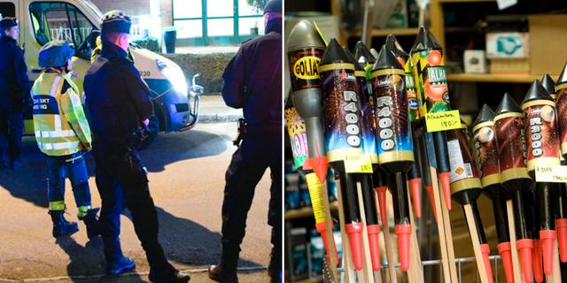 Arkivbilder på polisen och raketer.  TT