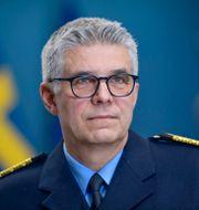 Rikspolischef Anders Thornberg på en pressträff den 3/2. Pontus Lundahl/TT / TT NYHETSBYRÅN