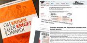 """Utländska medier om """"Om krisen eller kriget kommer""""."""