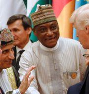 Trump hälsar på ledare för länder i Mellanöstern och Afrika innan sitt  JONATHAN ERNST / TT NYHETSBYRÅN