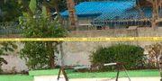 Arkivbild från tidigare i år när en bomb exploderade utanför lägret i Sittwe SOCIAL MEDIA / TT NYHETSBYRÅN