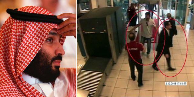 Mohammed bin Salman/några av de misstänkta för mordet på Jamal Khashoggi. TT