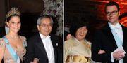 Nobelpristagaren Ei-ichi Negishi och hans fru Sumire Negishi hade kronprinsessparet till bordet under Nobelfesten. TT