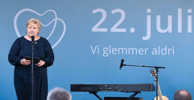 Erna Solberg.  Geir Olsen / TT NYHETSBYRÅN