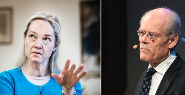 Förste vice riksbankschef Cecilia Skingsley och riksbankschef Stefan Ingves. TT