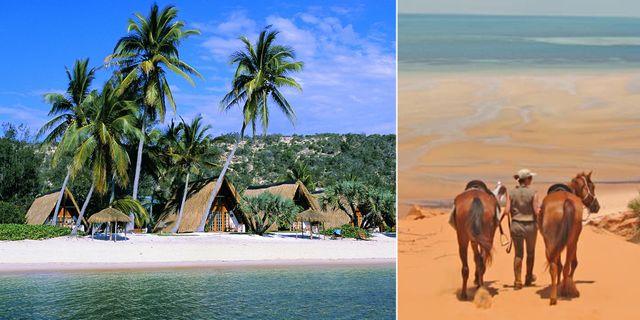 Bazaruto-arkipelagen har vackra vita stränder och sköna hästturer. Flickr