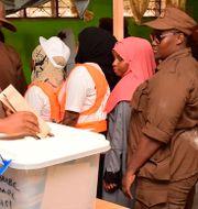 Röstning på Zanzibar. Stringer / TT NYHETSBYRÅN