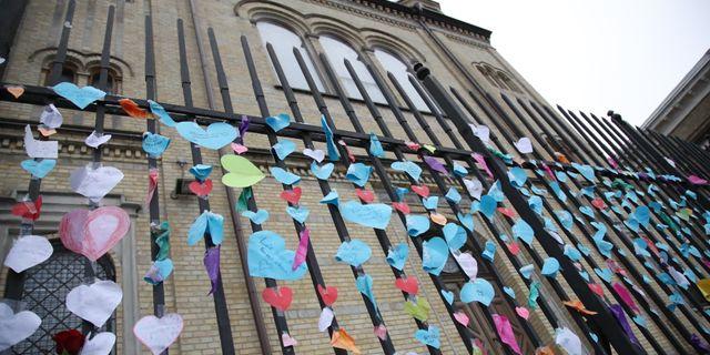Synagogan i Göteborg efter attacken Adam Ihse/TT / TT NYHETSBYRÅN