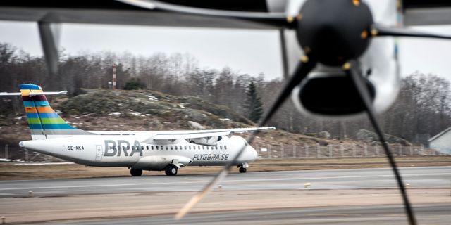 BRA-flyg på Bromma. Arkivbild. Lars Pehrson/SvD/TT / TT NYHETSBYRÅN