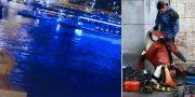 Olyckstillfället igår kväll/räddningsarbetare. TT
