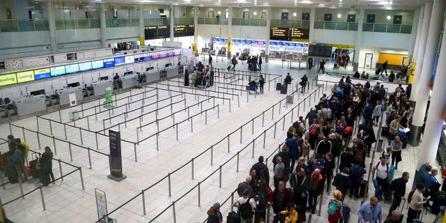 Gatwicks flygplats.  Gareth Fuller / TT NYHETSBYRÅN