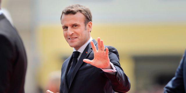 Emmanuel Macron. Andreea Alexandru / TT NYHETSBYRÅN/ NTB Scanpix