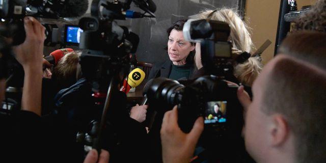 Dramatens vd Maria Groop Russel. Janerik Henriksson/TT / TT NYHETSBYRÅN