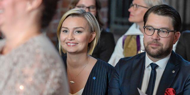 Ebba Busch Thor och Jimmie Åkesson.  Janerik Henriksson/TT / TT NYHETSBYRÅN