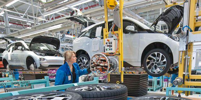 Arkivbild: BMW-fabriken i Leipzig.  Jens Meyer / TT NYHETSBYRÅN
