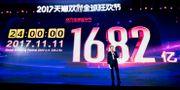 Arkivbild: Alibaba presenterar försäljningssiffrorna för singeldagen 2017. TT NYHETSBYRÅN/ NTB Scanpix