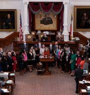 Nya abortlagen diskuteras i Texas representanthus/Arkivbild Eric Gay / TT NYHETSBYRÅN