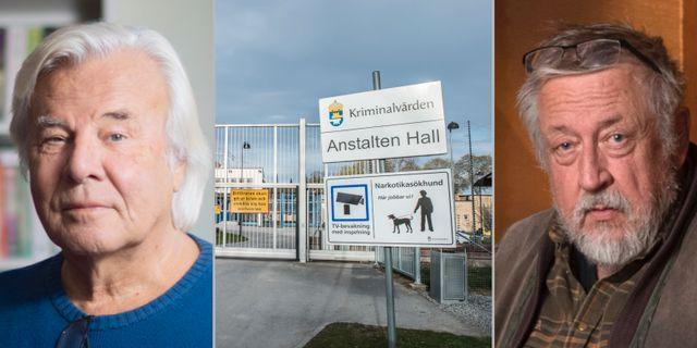 Guillou, anstalten Hall, Persson. Arkivbilder TT