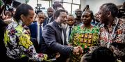 Joseph Kabila lägger sin röst på valdagen.  LUIS TATO / AFP