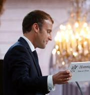 Frankrikes president Emmanuel Macron. Gonzalo Fuentes / TT NYHETSBYRÅN