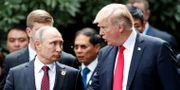 Vladimir Putin och Donald Trump då de möttes under ett toppmöte i Vietnam i november.  Jorge Silva / TT NYHETSBYRÅN