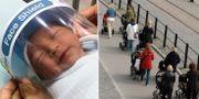 Bebis i Thailand skyddas från coronaviruset/illustrationsbild.  TT