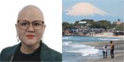Emma Hult (t.v), Illustrationsbild tagen utanför Tokyo (t.h) TT, Riksdagen