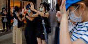 Demonstranter i Hongkong på onsdagen Kin Cheung / TT NYHETSBYRÅN