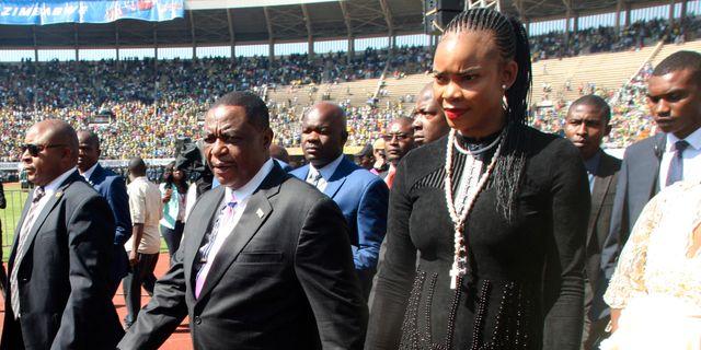 Constantino Chiwenga och hustrun Marry Mubaiwa, arkivbild. Wonder Mashura / TT NYHETSBYRÅN