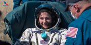 Jessica Meir är tillbaka på jorden. TT NYHETSBYRÅN