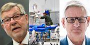 Björn von Sydow/fältsjukhus/Carl Bildt.  TT