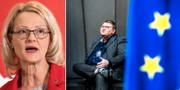 Heléne Fritzon (S) och Peter Lundgren (SD) är respektive partis toppnamn i EU-valet. TT