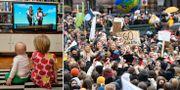 Genrebild på barn/Klimatstrejken i Stockholm. TT