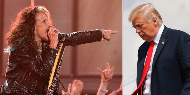 Steven Tyler och Donald Trump. TT.