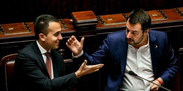 Luigi Di Maio och Matteo Salvini. Fabio Frustaci / TT NYHETSBYRÅN/ NTB Scanpix