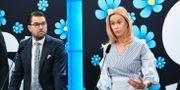 Partiledaren Jimmie Åkesson och Katja Nyberg, SD-ledamot i justiteutskottet. Arkivbild. Fredrik Sandberg/TT / TT NYHETSBYRÅN
