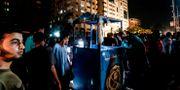 En av de två platserna i Gaza som utsattes. MAHMUD HAMS / AFP