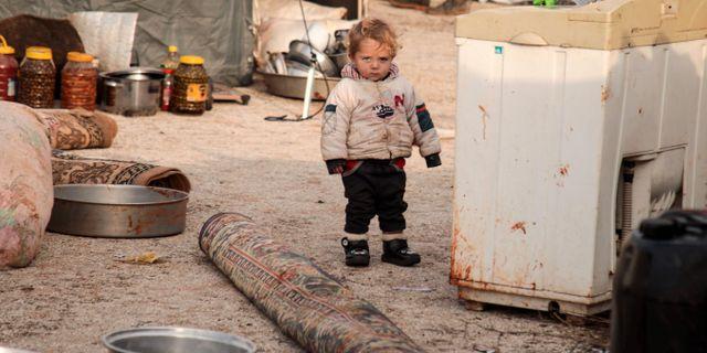 235000 människor har tvingats på flykt i nordvästra Syrien de senaste veckorna AAREF WATAD / AFP